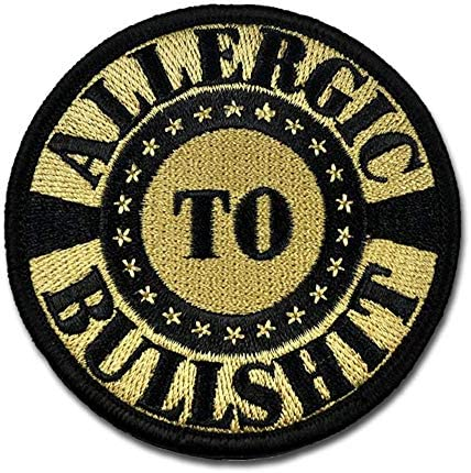BASTION Morale Patches Allergic to BS ACU 3D Embroidered Patches with Hook Loop Fastener Backing product image