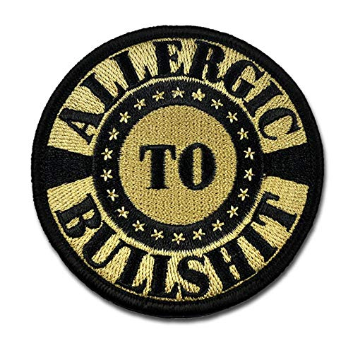 BASTION Morale Patches (Allergic to BS ACU) | 3D Embroidered Patches with Hook & Loop Fastener Backing | Well-Made Clean Stitching | Military Patches Ideal for Tactical Bag, Hats & Vest