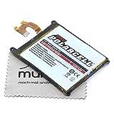 Batería de repuesto para Sony Xperia Z2 (sustituye a la batería original LIS1543ERPC) Polarcell con paño de limpieza de pantalla Mungoo