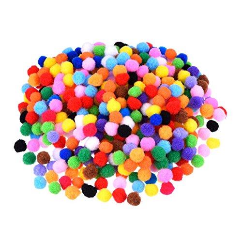 rosenice Pompons 1200pcs 10mm Sortiert Pompons für DIY-kreativen Handwerk Dekorationen (gemischte Farbe)