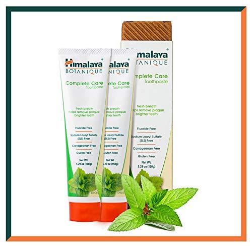 Himalaya Botanique Toothpaste - Natürliche Zahnpasta ohne Fluorid, SLS, Gluten & Carrageenan - Entfernt Plaque, Mundgeruch, verhindert Karies und Zahnfleischbluten (Simply PEPPERMINT, 2-Pack SAVER)