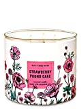 BBW White Barn Strawberry Pound Cake 3 Wick Scented Candle 14.5 oz.