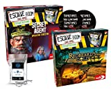 Escape Room Das Spiel - Set de ampliación Secret Agent + Redbeard's Gold + 2 pegatinas Escape + 1 adorno de metal