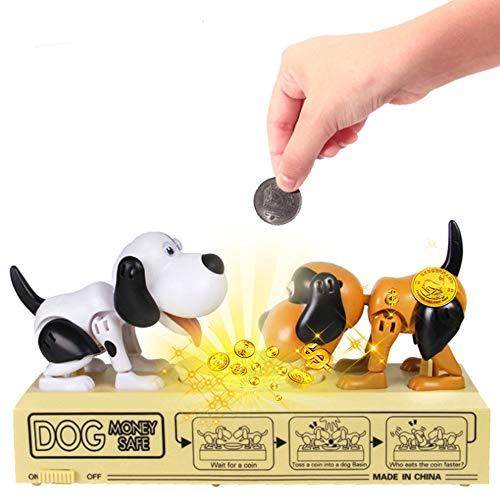 Justup Hucha con forma de perro hambre, hambre, hucha para cachorros, monedas, hucha, regalo de cumpleaños para niños (perro)