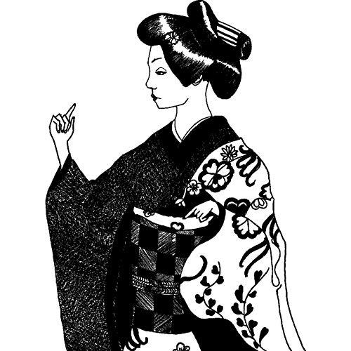 Azeeda A8 'Japanische Frau' Stempel (Unmontiert) (RS00019570)
