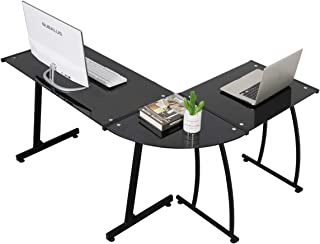 Best boxey clear glass computer desk Reviews