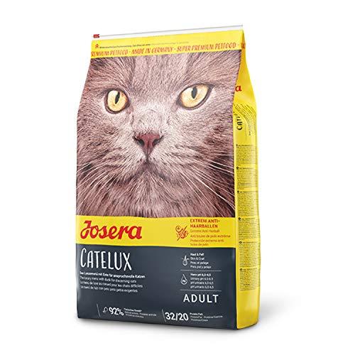 JOSERA Catelux (1 x 400 g)   Katzenfutter mit Anti-Haarballen-Effekt   Super Premium Trockenfutter für ausgewachsene Katzen   1er Pack