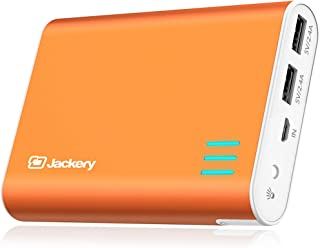 Jackery Giant + 2-USB Cargador portátil de batería externa - Paquete de batería externa para el iPhone, iPad, Galaxy, y Android dispositivos inteligentes - 12000mAh (naranja)