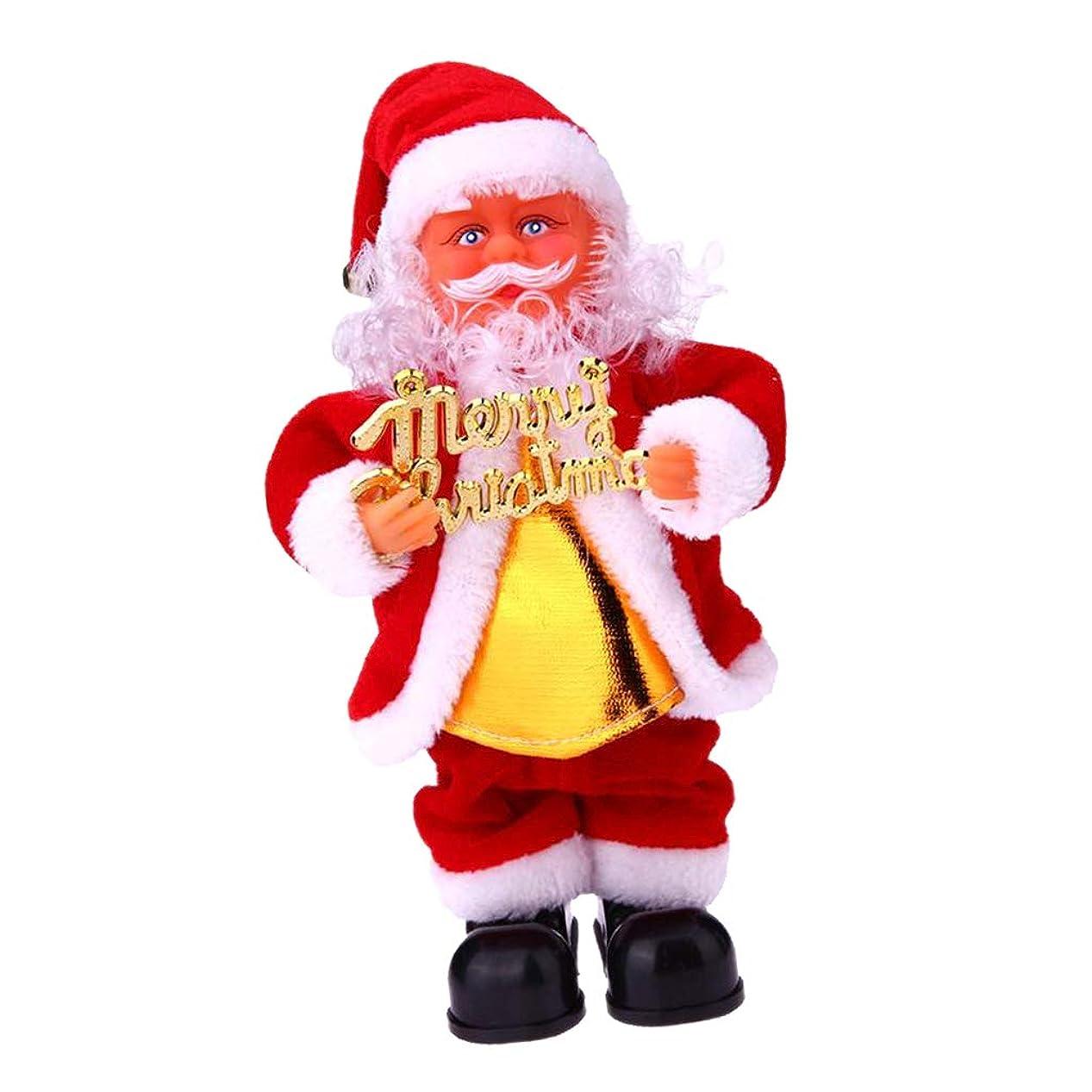 ピケ気づく麻痺させる電子おもちゃ オフィス ホーム装飾 歌う 踊るサンタクロースドール ぬいぐるみ 音楽人形