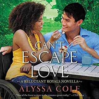 Can't Escape Love     A Reluctant Royals Novella              Written by:                                                                                                                                 Alyssa Cole                               Narrated by:                                                                                                                                 Karen Chilton                      Length: 4 hrs and 23 mins     Not rated yet     Overall 0.0