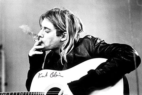 GB EYE LTD Nirvana Poster Kurt Cobain Smoking & Guitar, Mehrfarbig, 2