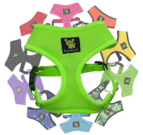 Classic Dog Harness Innovative Mesh No Pull No Choke Design Soft Double Padded Breathable Vest for Eco-Friendly Easy Control Walking for Large Puppies Full Size Breeds & Extra Large Dogs (XL, Green)