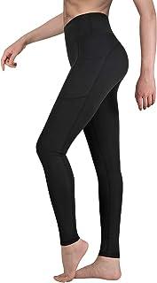 Legging de Sport Femme Pantalon de Yoga avec Poches Yoga Fitness Gym Jogging Taille Haute..