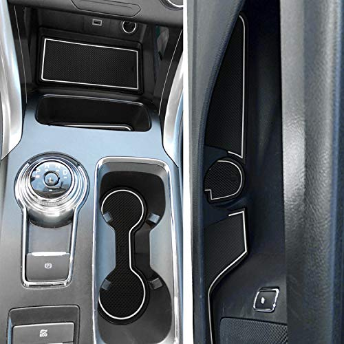Auovo Anti Dust Door Mats for Chevy Chevrolet Silverado 1500 or GMC Sierra 1500 2019 2020 Interior Accessories Custom Fit Door Cup Center Console Liners Crew Cab, Bucket Seats, 25pcs Black