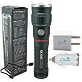 Nebo Slyde King 6434 Rechargeable LED Flashlight Work Light with Lumintrail USB Plug Adapters
