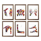 Human Bones Anatomy Watercolor Poster Set Skeletal System Art Print Human Skeleton Wall Decor Human Anatomy Artworks Human Anatomy Chart Wall Art Human Body Skeletal System