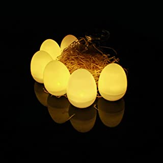 WINOMO 12Pcs LED Candle Egg Shaped Easter Flameless Tear Flickering Tea Light Candle Lamp Decorative Electric Candles Ligh...