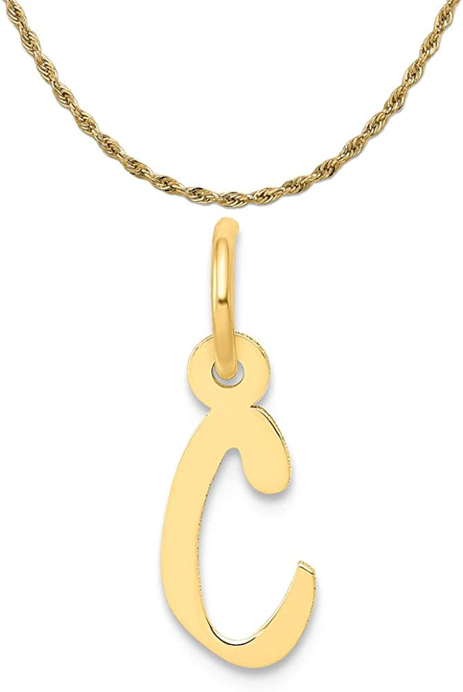 Mireval 14k Yellow Gold Small SEAL limited product Slanted C Charm 1 Block on Louisville-Jefferson County Mall Initial