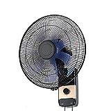SMYH Ventilador de pared silencioso con mando a distancia, ventilador de pared oscilante industrial, 5 aspas, 16/18 pulgadas
