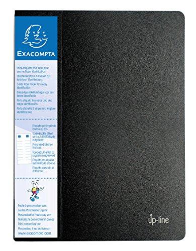 Exacompta 88201E - Carpeta de 20 fundas, A4, color negro