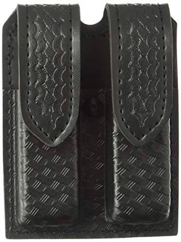 Safariland Duty Gear Glock 17 Hidden Snap Double Handgun Magazine Pouch (STX Basketweave Black)