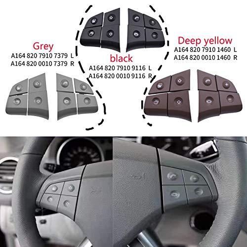 NO LOGO HMYDZ for Benz W164 GL ML 2006-2009 Multifunktions-Lenkrad-Taste Audio-Auto-Lenkrad-Taste (Color : Grey)