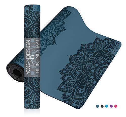 Yoga Design Lab The Infinity Mat Tappetino da Yoga | Ecologico, Morbido ed Antiscivolo per Un'aderenza impareggiabile | Include Una Tracolla! (Mandala Teal)