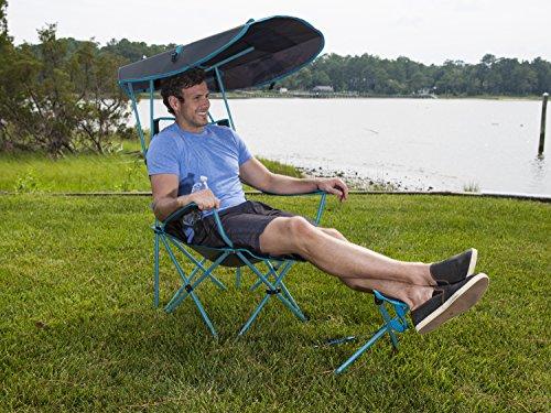 SwimWays Kelsyus Original Canopy Chair with Ottoman -...