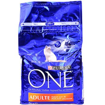 Friskies One Purina Katzenfutter für erwachsene Tiere, Huhn, 3kg