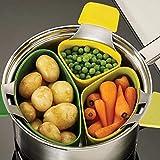 Vaporera de silicona para cocinar verduras cesta cocina utensilios de cocina vaporizador de cocina inserto 3 unids/set