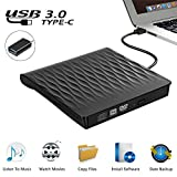 External CD DVD Drive, USB 3.0 Slim Portable External CD DVD Rewriter Burner