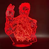 vhidfsjgdsfik Luz de Noche niños Iron Art Villain Lamp Living Room Night Light 7 / Cambio de Color luz de Noche 3D Light niños Regalo