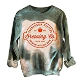 Halloween Sweatshirts for Women Casual Crewneck Long Sleeve Pullover Blouse...