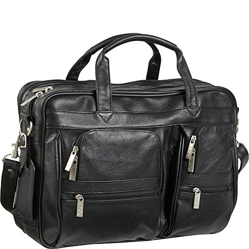 amerileather leather briefcases Black Leather Business Briefcase (#49-0)