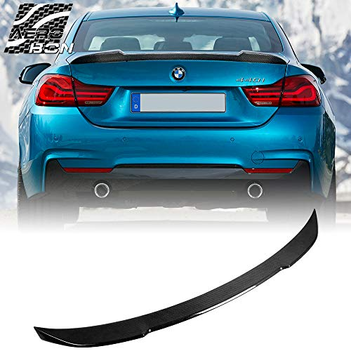 AeroBon Real Carbon Fiber Rear Trunk Spoiler Compatible with 13-20 BMW F32 4-Series Coupe (CS Style)