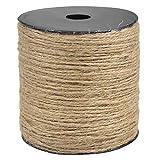 Chstarina 2mm * 200m Cordel de Yute Natural Cuerda de Yute Durable Cordel Manualidades para Embalaje, Decoración, Bricolaje, Jardinería, Manualidades