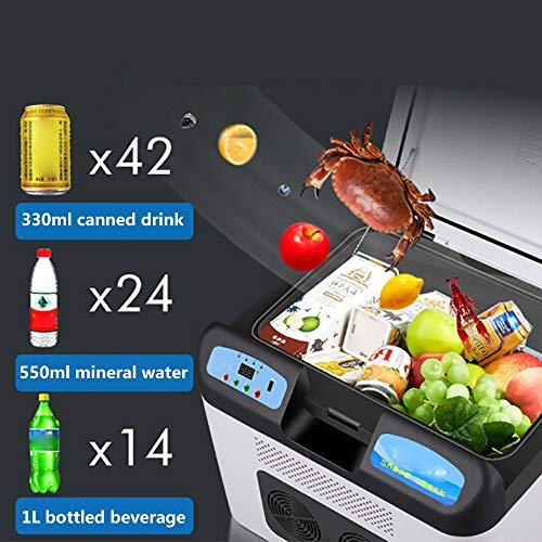 Mini-kühlschrank mit gefrierfach retro,12V thermo-elektrische mini-kühlschrank,tragbare kompressorkühlbox,elektrische kühlbox für auto und steckdose,White
