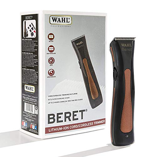 Wahl Professional Beret Lithium Ion Cord Cordless Ultra Quiet Trimmer for Professional Barbers and Stylists - Model 8841