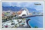 BCTS Tenerife Islas Canarias España Santa Cruz Carnaval Vacaciones Decoración al aire libre Placa 8x12 pulgadas