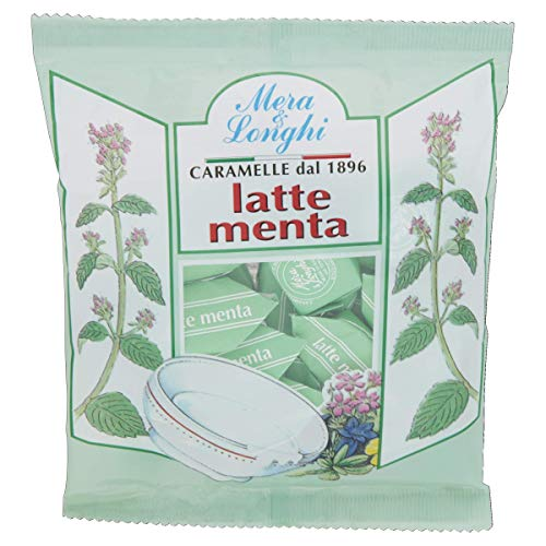 Mera & Longhi Caramelle Quadre Latte Menta - 160 g