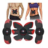 AHELT-J EMS Stimolatore, Polvere Muscolare Intelligente, Muscoli Addominali, Bodybuilding, Allenamento, Perdita di Peso, Cintura, casa.