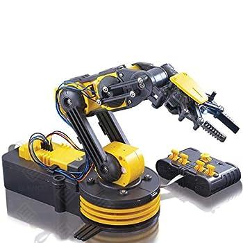"Elenco Teach Tech ""Robotic Arm Wire Controlled"" Robotic Arm Kit STEM Building Toys for Kids 12+"