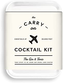 W&P MAS-CARRYKIT-GT Carry on Cocktail Kit, Gin and Tonic, Travel Kit for Drinks on the Go, Craft Cocktails, TSA Approved