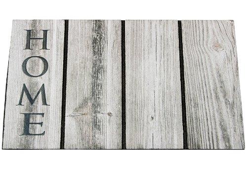 MD-Entree vopi, s.r.o. 55 extérieur Tapis de Sol Home Wood, Caoutchouc, Gris, 46 x 76 cm