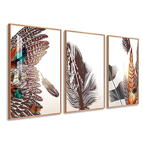 DekoArte - Cuadros Decoración | Moderno Sofisticado con Marco en PVC | Trípticos Decorativos Para Salón o Dormitorio | Póster con acrilico 0