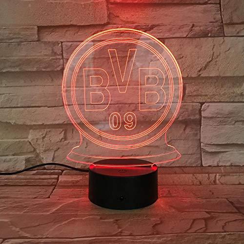 BVB Team 3D Nachtlicht Schlafzimmer LED visuelle Magie Tischlampe Valentinstag Geburtstagsgeschenk