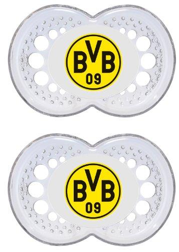 MAM 661822 - Ulti MAM Latex, Schnuller, Bundesliga: Borussia Dortmund, Doppelpack, 6-16 Monate