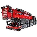 WEERUN Technic Liebherr LTM 11200 Grúa, 1:20 2.4G RC Grúa Móvil Grua Todo Terreno con 12 Motores y Control Remoto, 7068 Piezas Bloques Set de Construcción Compatible con Lego Technic