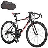 カノーバー(CANOVER) ロードバイク 自転車 輪行バッグセット 21段変速 アルミフレーム CAR-015 UARNOS マットブラック 50016