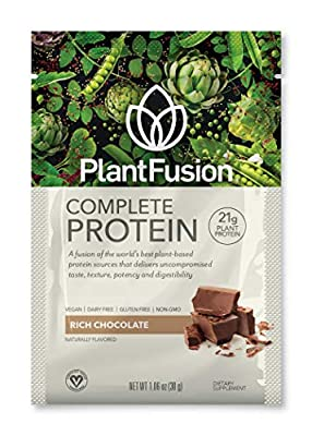 PlantFusion Complete Plant Based Pea Protein Powder   Dietary Supplement  Non-GMO, Vegan, Dairy Free, Gluten Free, Soy Free   Allergy Free w/Digestive Enzymes by PlantFusion